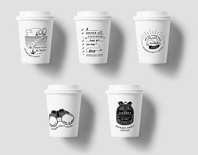 Voyager Craft Coffee -  Menu & Cup Design