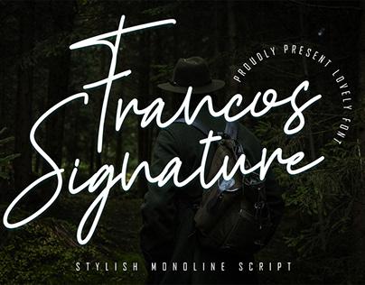 Francos Signature - Stylish Monoline Font