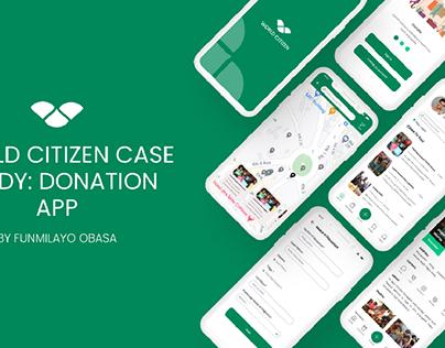 World Citizen Case Study for a Donation App