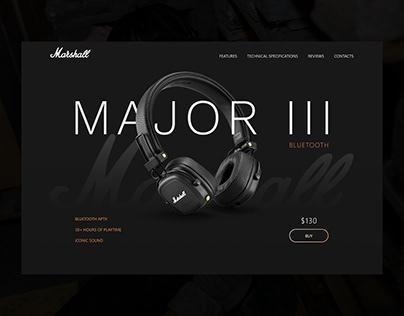 Landing page - Marshall Major III Bluetooth