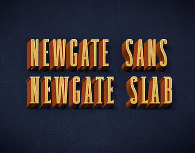 Newgate - modern font with retro touch