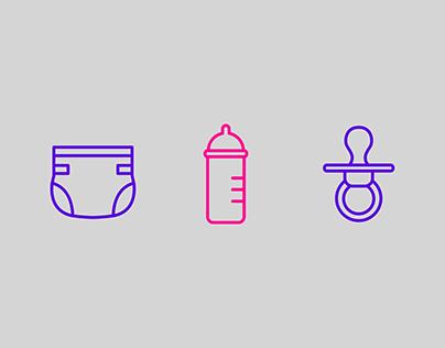 Maternity icon sets