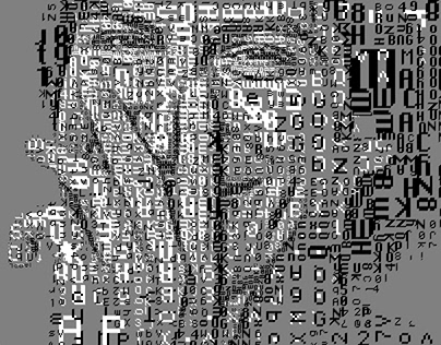 Steve Jobs: The 1 Bit Mac fonts portraits