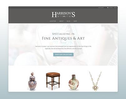 Harrison's Fine Antiques & Art Website