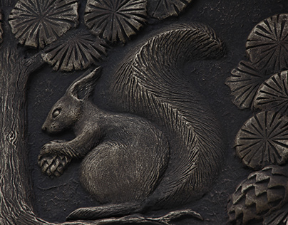 Relief decoration for the facade of a country house