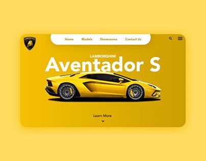 Lamborghini Aventador Webpage UI Design