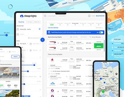 Cheap Flights | Webdesign & Logo