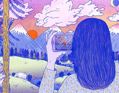 Illustration for Momento Móvil / Apa Apa Cómics
