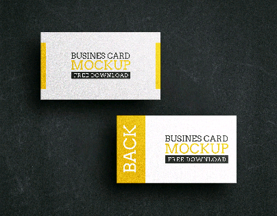 Freebie- Business Card Mockup Vol. 03