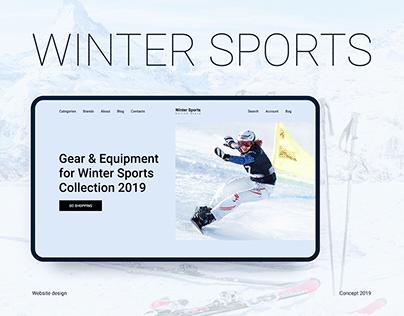 Winter Sports. Website design concept