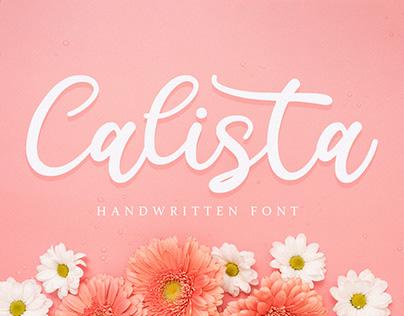 FREE | Calista - Handwritten Font