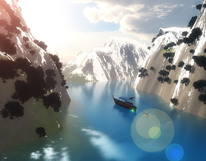 3d ice mountain use VUE