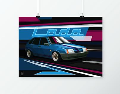 Poster | VAZ (LADA) - 2109 Samara