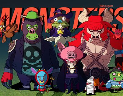 Monsters East VS West