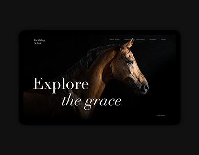 Horse riding school landing page concept