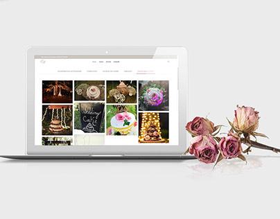 Laura Bartolini wedding planner site (Web design)