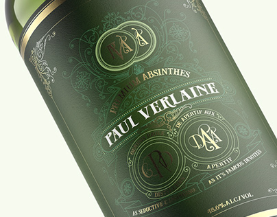 Paul Verlaine Absinthe Label Design