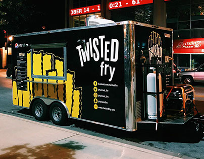 Twisted Fry Trailer Wrap