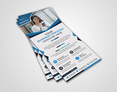 Blue Business Corporate Roll Up Banner Design