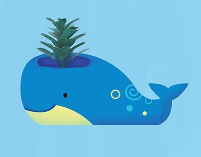 Sea Creature Planters & Vase