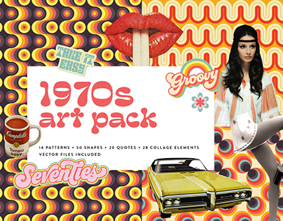 1970s Collage Art Pack