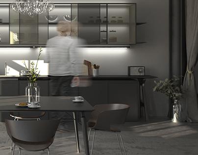 model apartment on Geusaugasse, Vienna