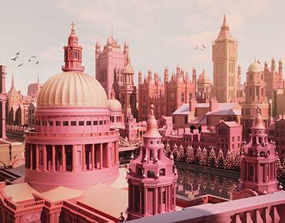 Kingdom Cities: Low Poly Art