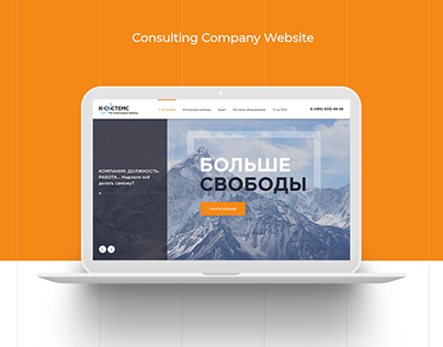 Web Rock Studio Design for Consulting Company