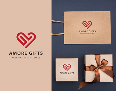 Amore Gifts Logo Design