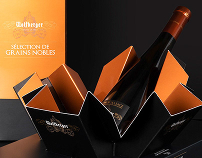 Wolfberger wine packaging 2018