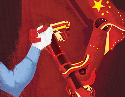 The People's Robots Editorial Illustration
