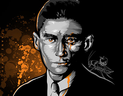 Franz KAFKA - Digital art - drawing