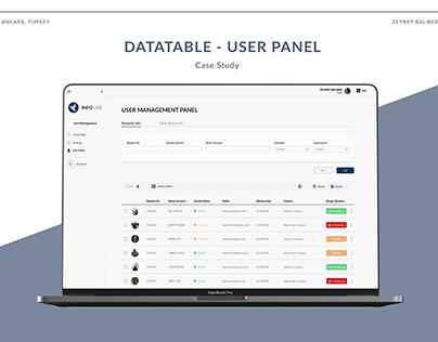Datatable - User Admin Panel