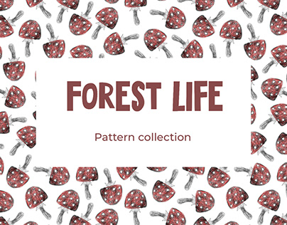 Forest life Pattern collection