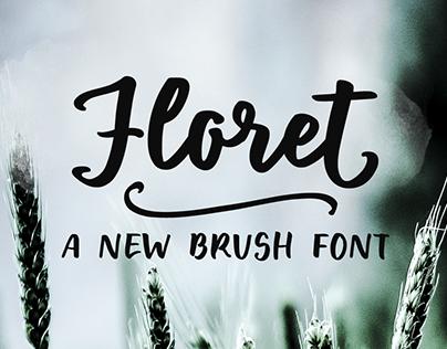 Floret handlettering brush font & free sample