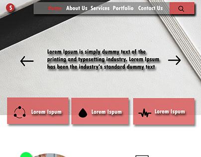 Professional Web Psd Template