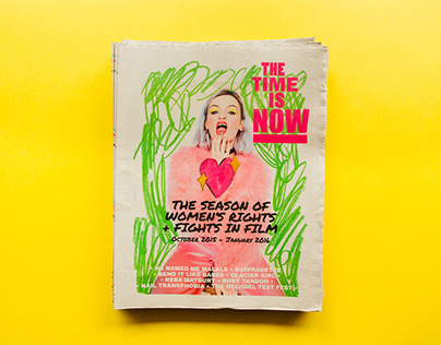 The Time is Now film season branding and zine