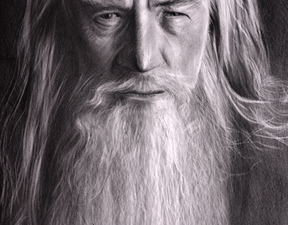 lord of the rings gandalf pencil drawing