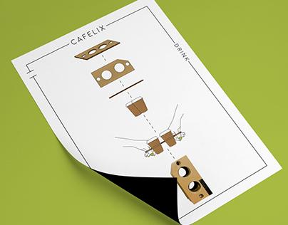 C A F E L I X - branding of a coffee shop