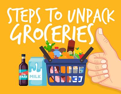 Steps to Unpack Groceries   Volunteer Shopper