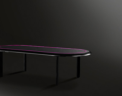 Electronic convertible poker-dining table