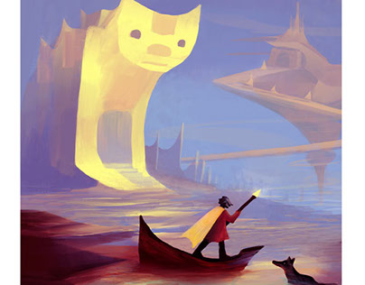 Fantastic journey cat surreal worlds
