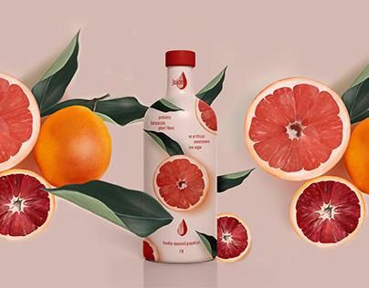 fruit juice packaging design