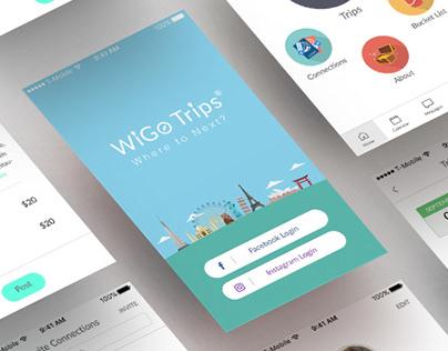 WiGo Trips-Travel app UI design