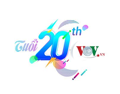 VOV.vn - 20th Anniversary logo
