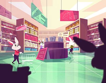 Explainer video illustrations for conscious shopping