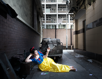 Staged photography-snow white in HK
