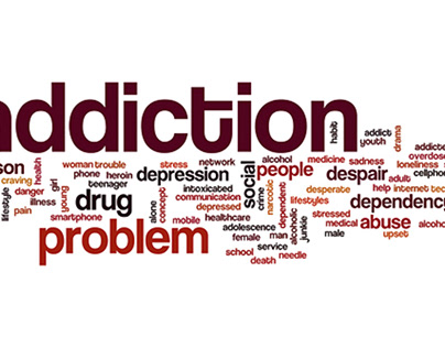 Addiction tag cloud