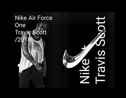Poster tribute / Nike AF-1 x Travis Scott