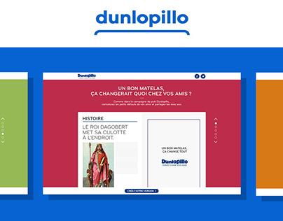 DUNLOPILLO - Campagne pub mini site